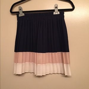 Blue, pink, and white skirt